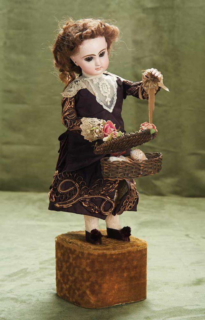 Lot: 20 (51 cm.) French Musical Automaton Little Girl Selling Sea Shells, Lambert 2800/4300 | Proxibid Auctions