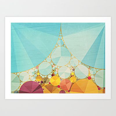 Travelling Show Abstract Circus Carnival Tent Art Print by V. Sanderson / Chickens in the Trees - $25.00 FREE SHIPPING THROUGH SUNDAY, worldwide!