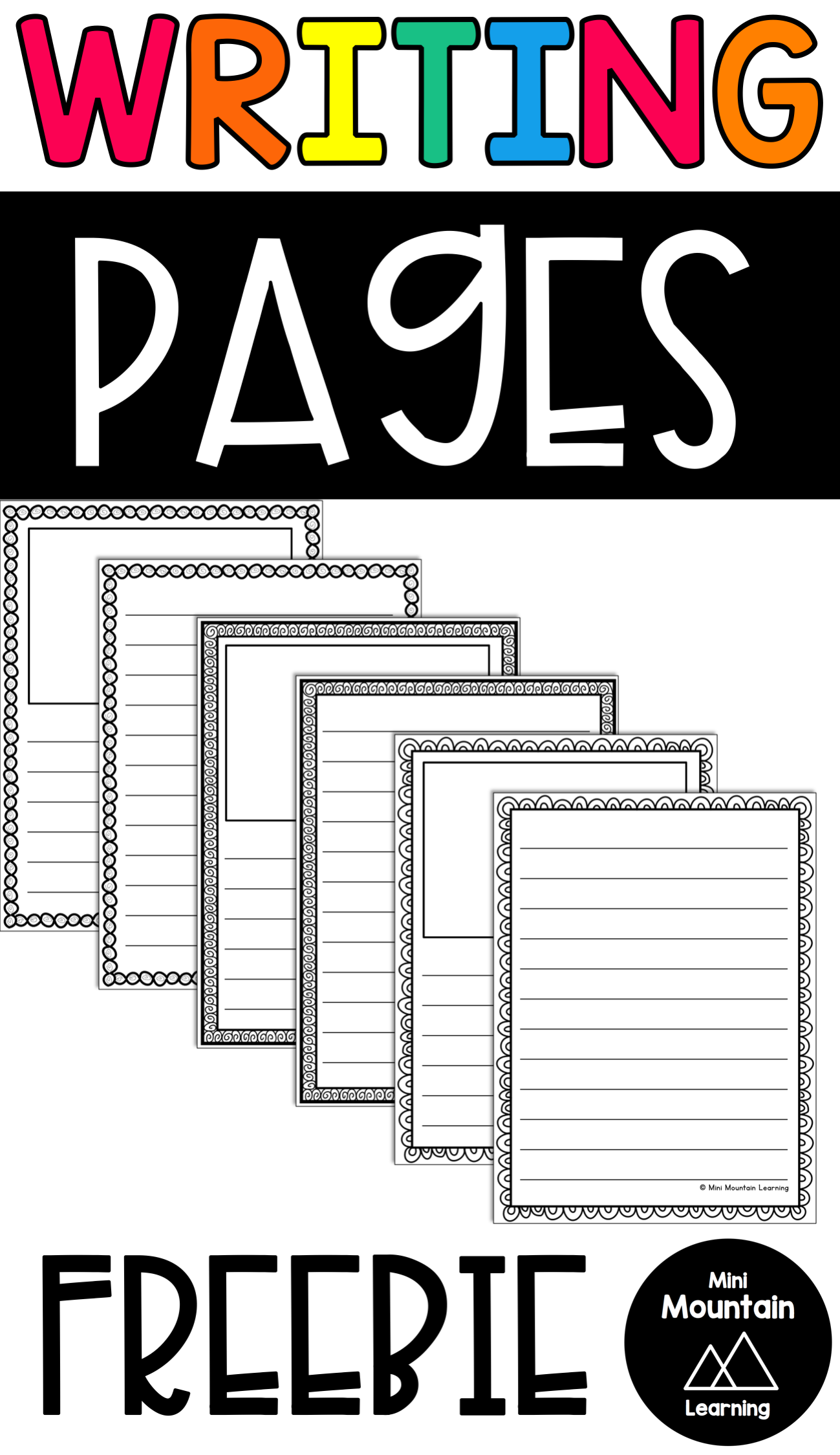 Free Writing Pages For Your Classroom Have Your Students Use These Pages As They Finish Thei First Grade Writing Kindergarten Writing Paper Free Writing Paper [ 2249 x 1299 Pixel ]