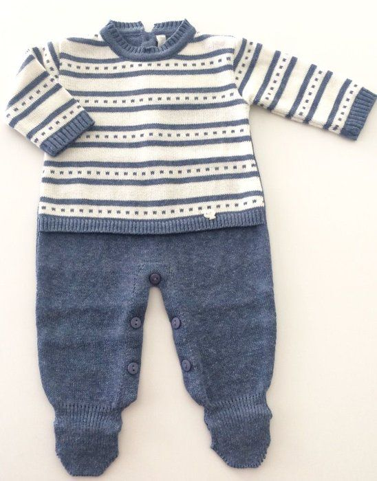 Kit Saída de Maternidade Completo Menino Azul Jeans  f7a5fb20480