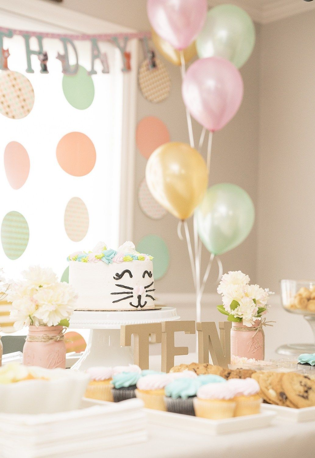 Girls 10th Birthday Party Ideas Birthday Party Table Decorations Birthday Decorations Kids 10th Birthday Parties