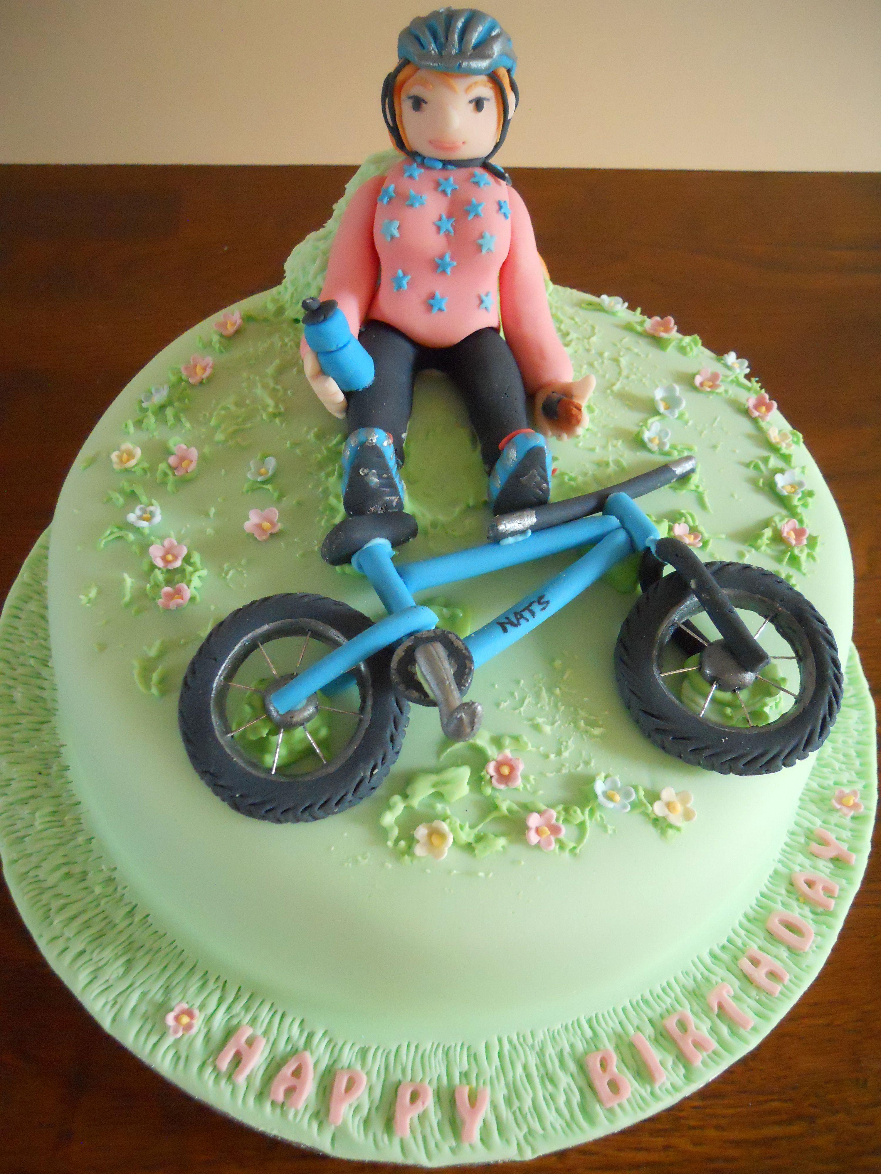 Cake Gallery Girl Bike Birthday Front View Gteau Vlo
