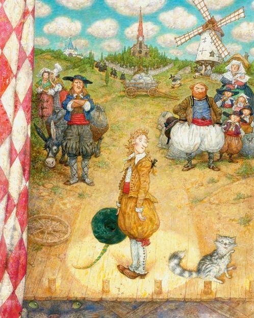 Skazochnye Illyustracii Skazki Kot V Sapogah Art Fairy Tales