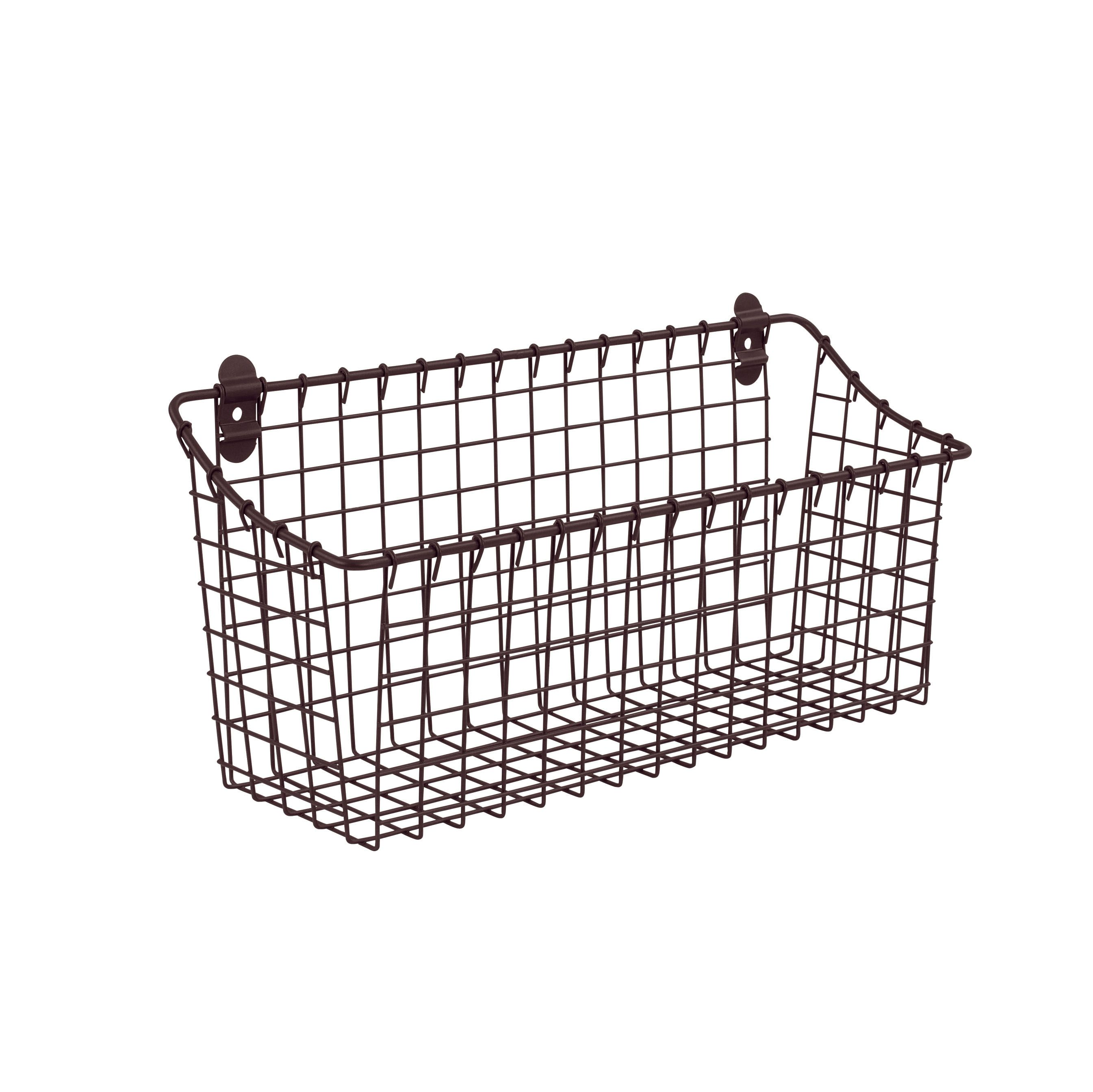 Vintage Wall Mount Storage Basket Industrial GRAY FREE SHIPPING