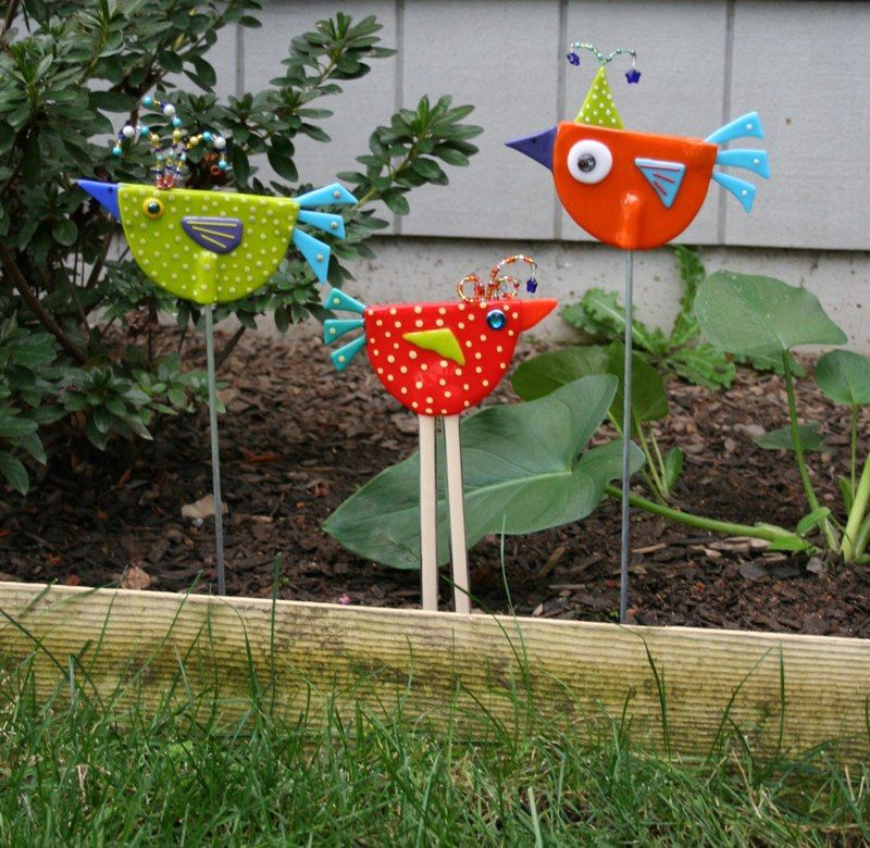 Quirky Creations Polka Dot Birds Bricolage Printemps Poterie