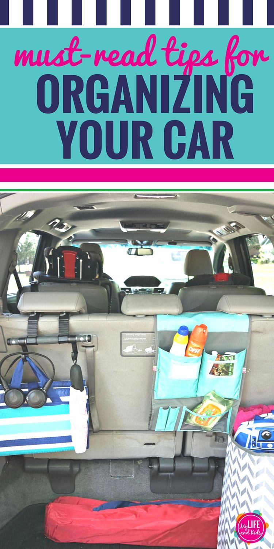 Tips for Organizing Your Car Minivan organization, Get