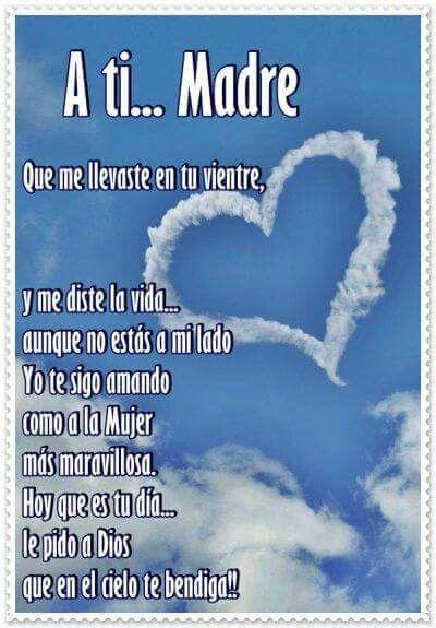 Pin De Paola Montañez En Mamá Oracion Para Mi Madre Pensamientos Para Mamá Feliz Cumpleaños En El Cielo