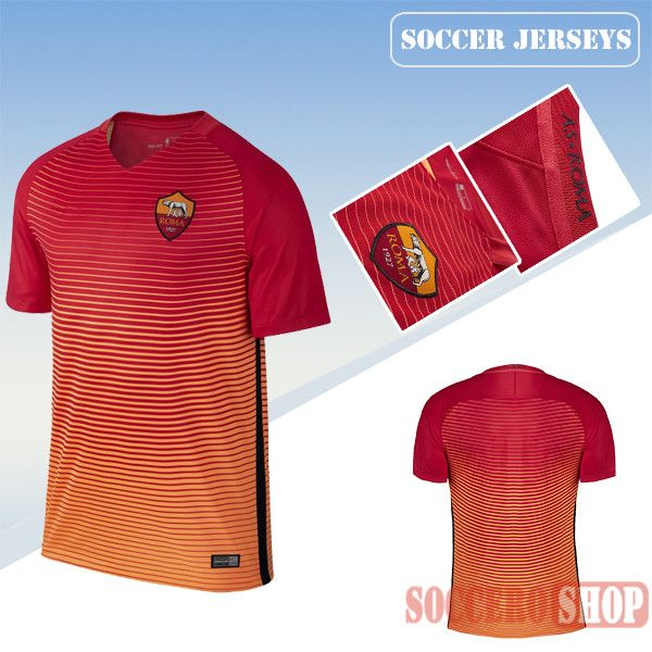 low priced 1b3e5 3b0d9 Latest AS Roma Red 2016 2017 Third Soccer Jersey Replica ...