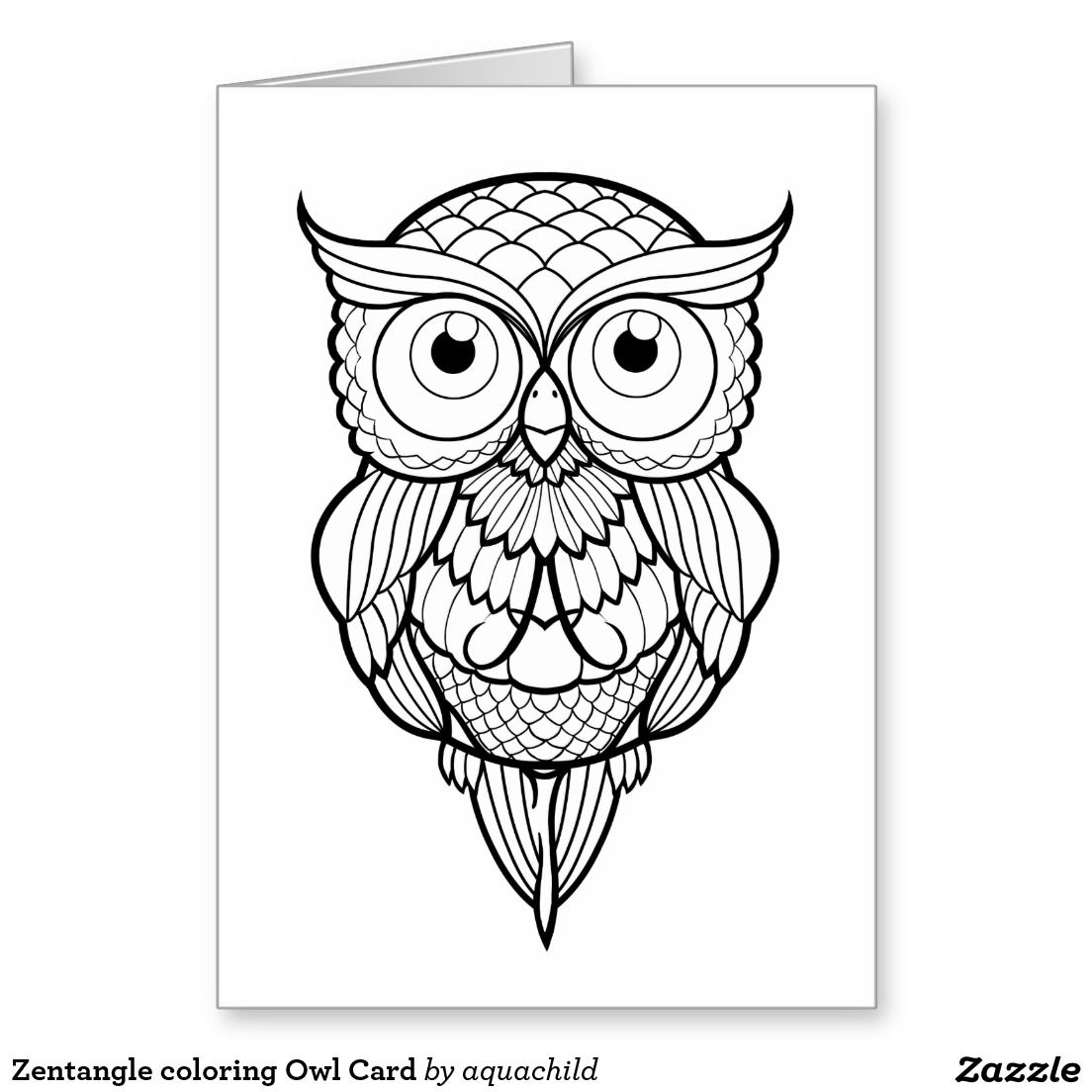 Zentangle Coloring Owl Card Owl Drawing Simple Owls Drawing Owl Coloring Pages