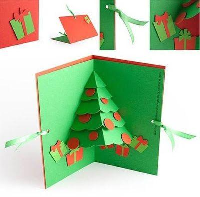 Como Hacer Una Tarjeta De Navidad En 3d Solountip Com Tarjetas De Navidad Hechas A Mano Navidad Hecha A Mano Manualidades Navidenas