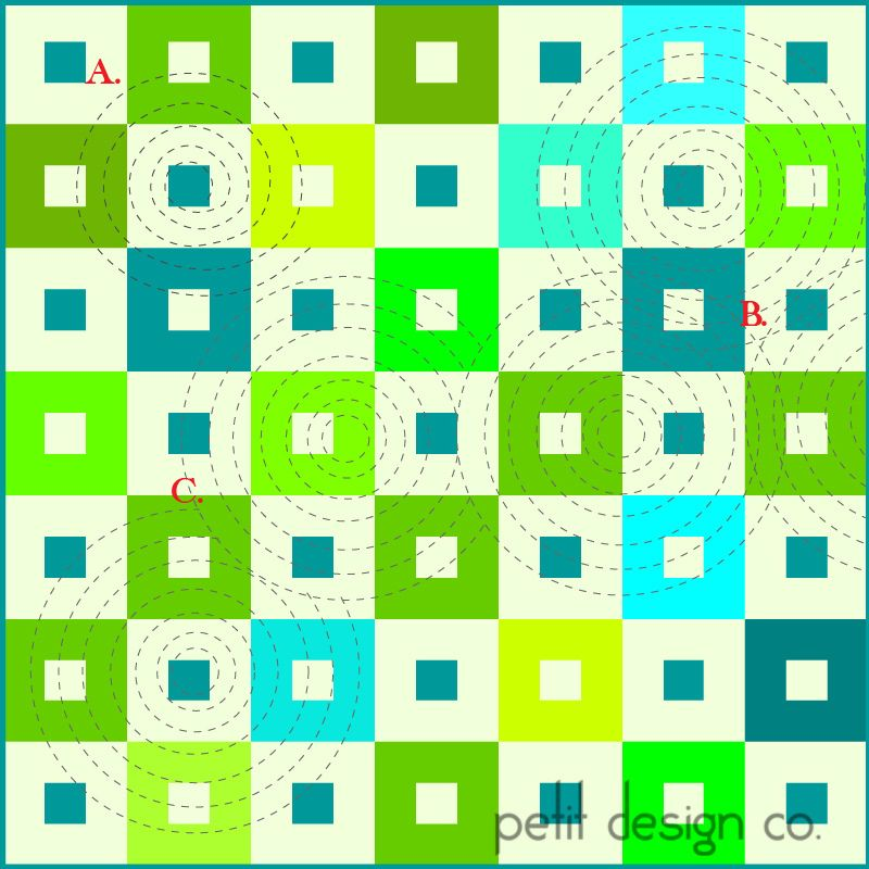 more circles - walking foot quilting   by Petit Design Co.