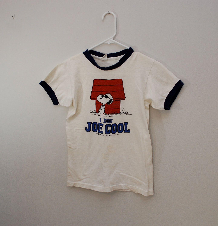 0ec231d50 Vintage SNOOPY Joe Cool ringer t-shirt 1958 USA peanuts | Peanuts ...