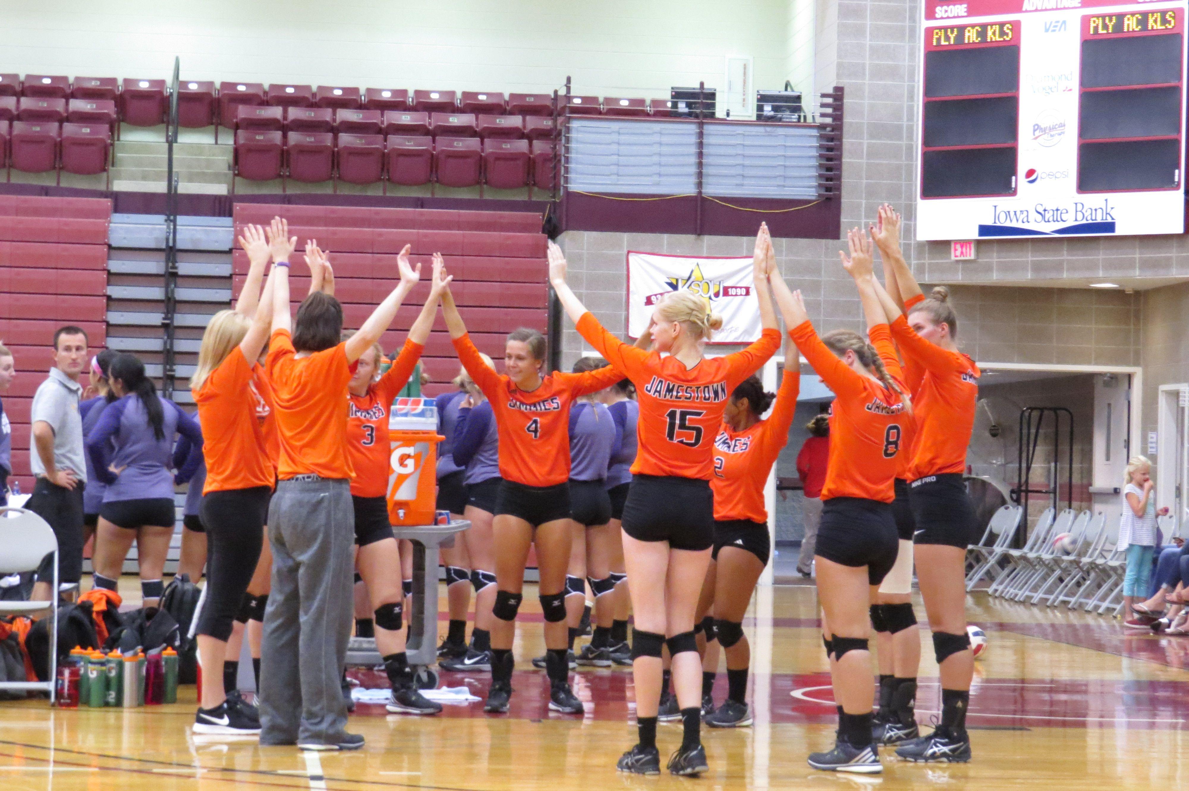 University Of Jamestown Jimmie Volleyball At Nwc College Orange City Iowa Gym Orange City Iowa Orange City Iowa