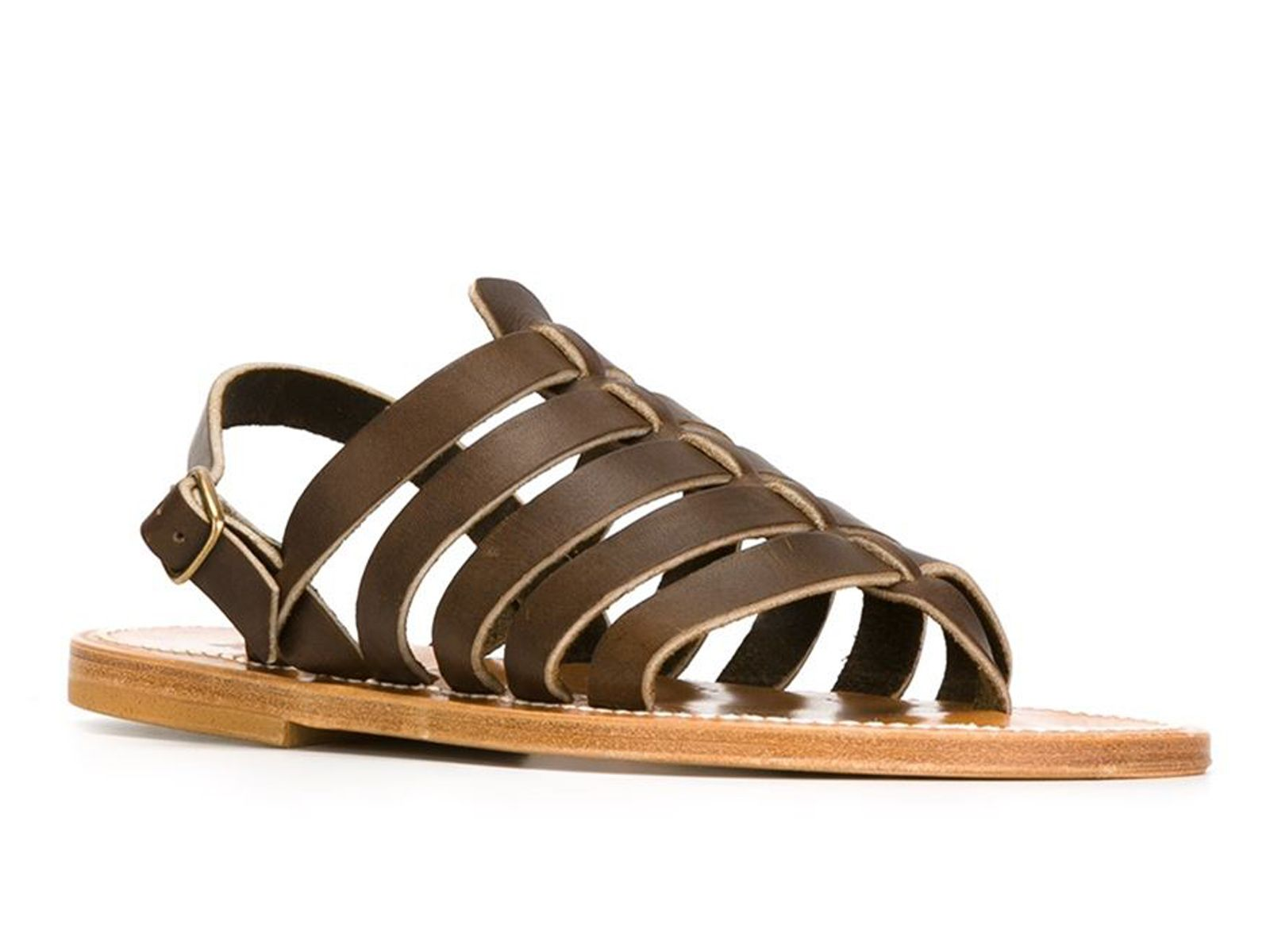 9294aa3d3b1 K Jacques Homere men s sandals in brown Leather - Italian Boutique €153