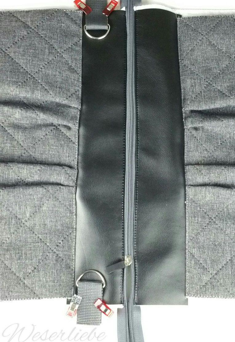 manual de instrucciones de costura bolso exterior bolsillo paso 40