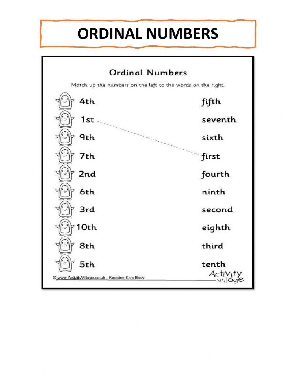 Ordinal Numbers Interactive Worksheet Number Worksheets Ordinal Numbers Business For Kids [ 1291 x 1000 Pixel ]