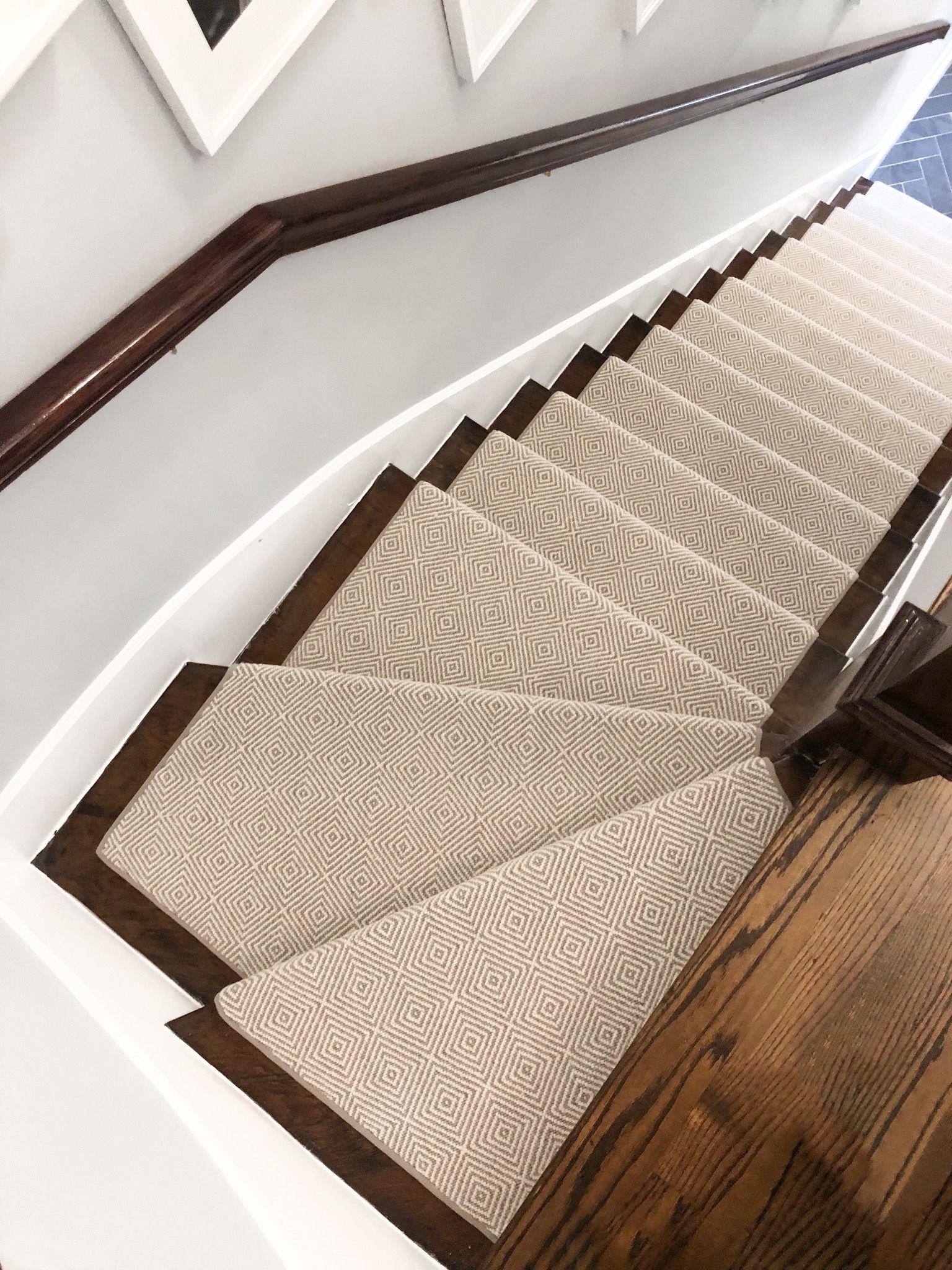 Neutral Patterned Stair Runner Stair Runner Home Carpet Staircase Makeover