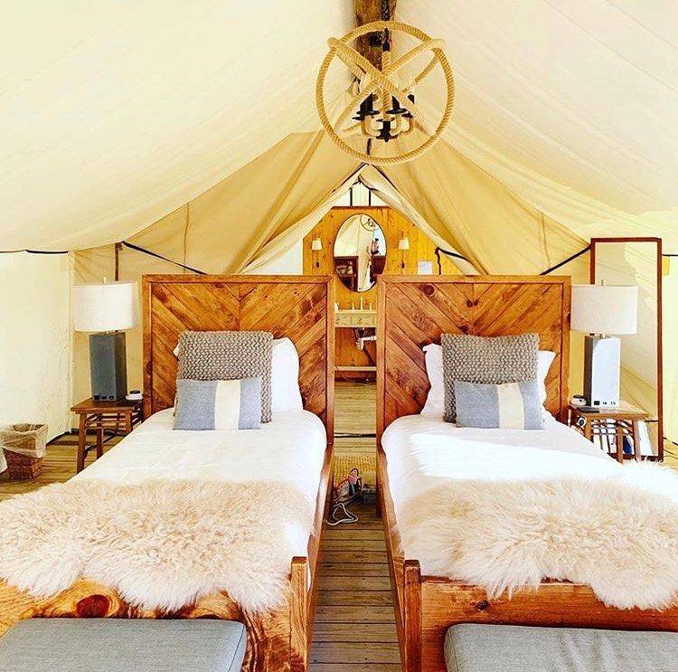 Collective Retreats On Instagram The Perfect Intersection Of Style And Comfort At Collective Governors Island 1 500 Th Glamping Luxury Glamping Comfy Travel