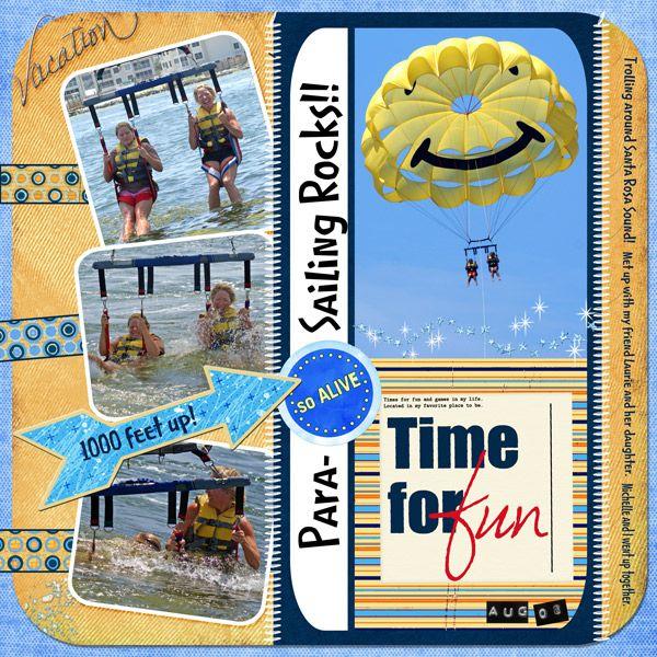 Para-Sailing Rocks - Travel & Vacations - Gallery - Scrap Girls Digital Scrapbooking Forum
