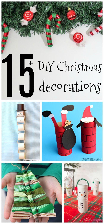 18 xmas decorations to make kids ideas
