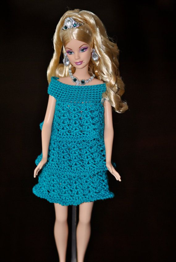 Made To Order Barbie Crochet Dress 3 Tier Ruffle Dress For Barbie