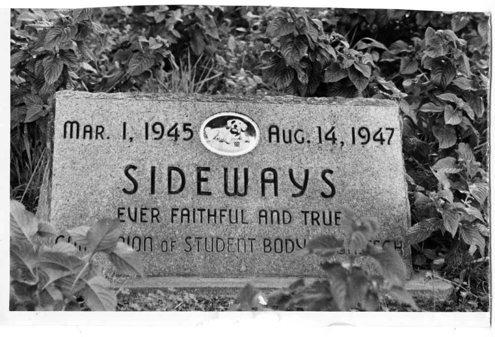 Sideways' Grave Marker Tech History Digital