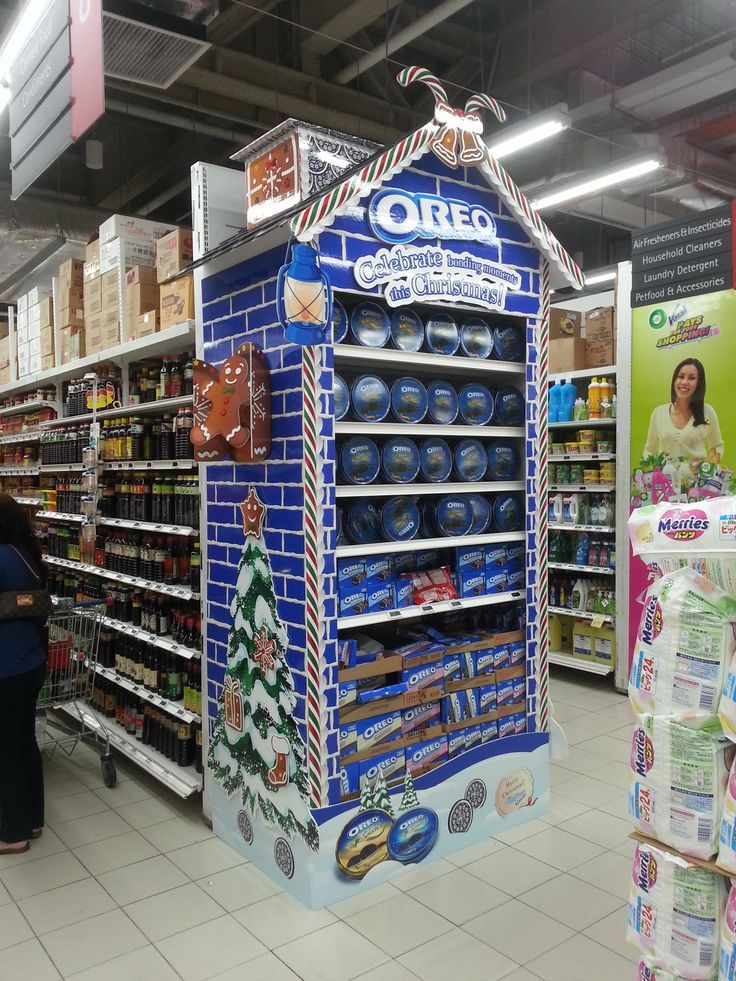 Supermarket Point Of Purchase Oreo Cabecera Point Of
