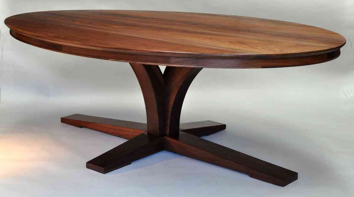 Antique oval walnut dining table retro spacious furniture solid walnut jupe dining table