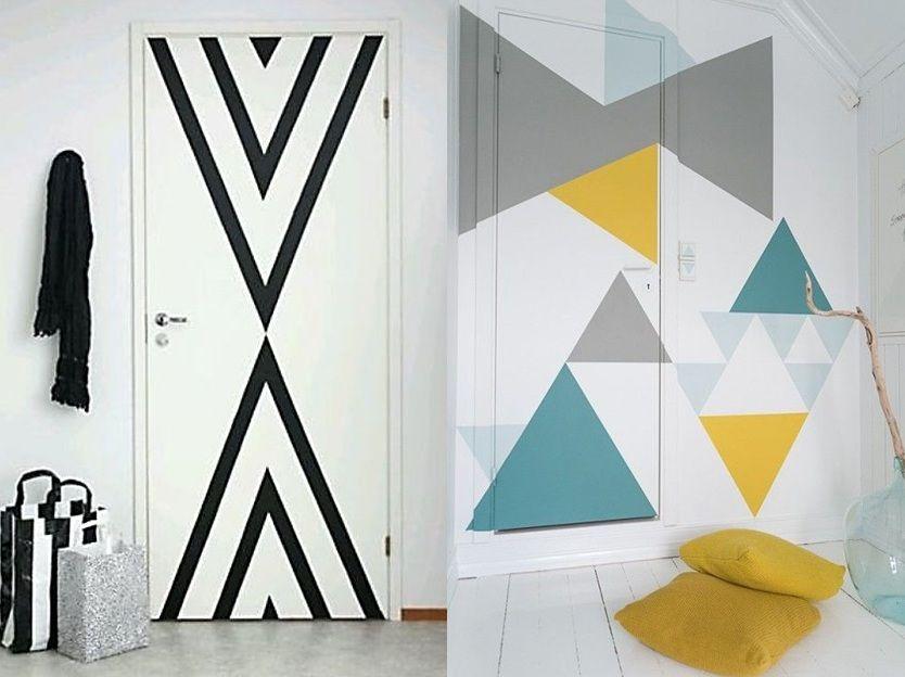 6 id es pour d corer une porte diy decoration porte interieur decoration porte peinture de - Decorer une porte ...