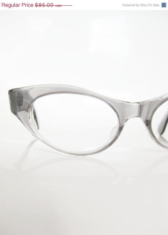 RESERVED VIntage 1960s Eyeglasses Ladies Womens NOS New Old Stock Charcoal Grey Cat Eye Sunglass Eyeglass OPTICAL Frames 60s Mad Men