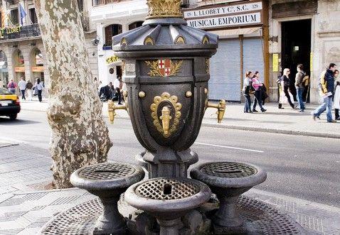 Lugar de celebración del F.C. Barcelona, Canaletas Fountain - Barcelona