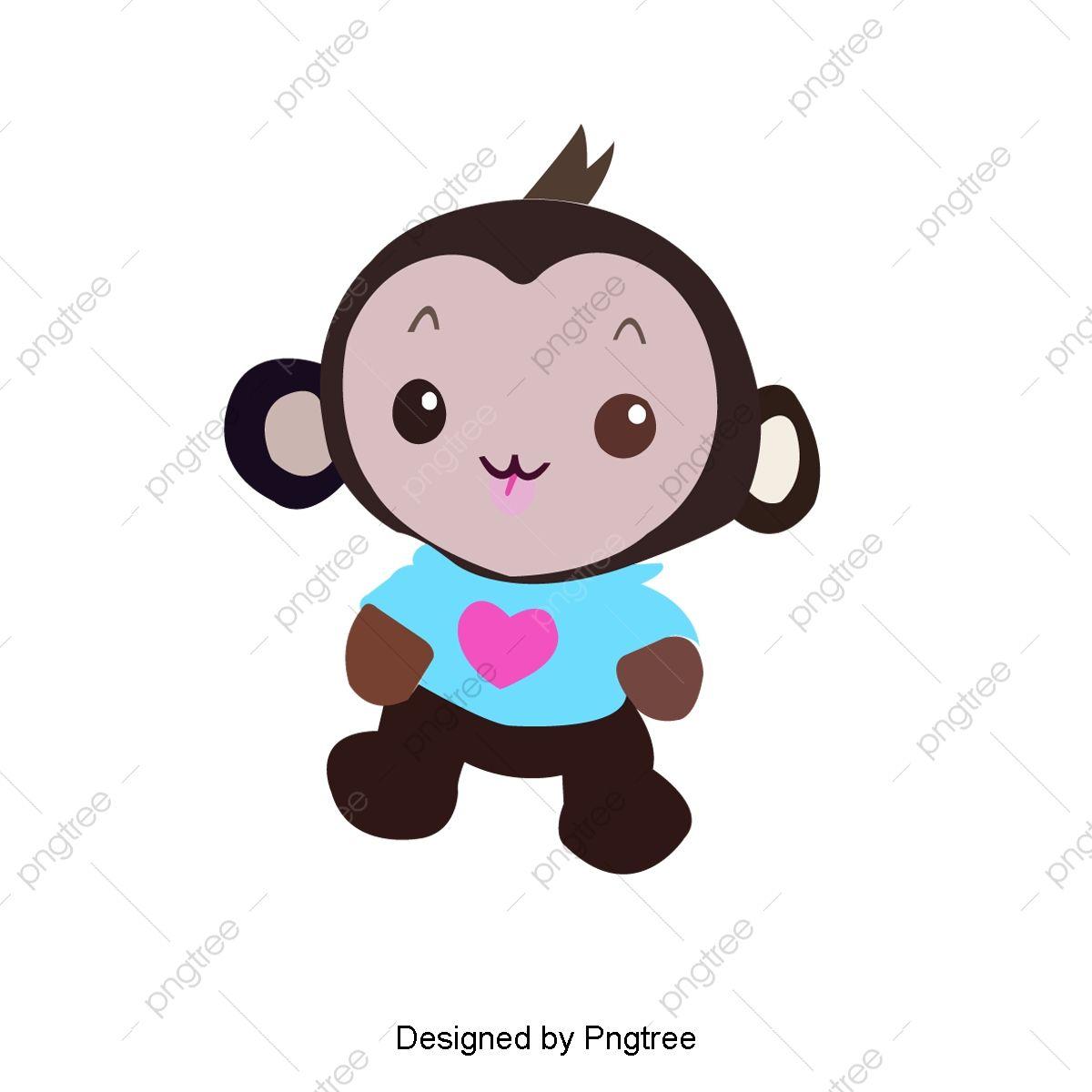 Happy Little Monkey Monkey Clipart Cartoon Comics Animal