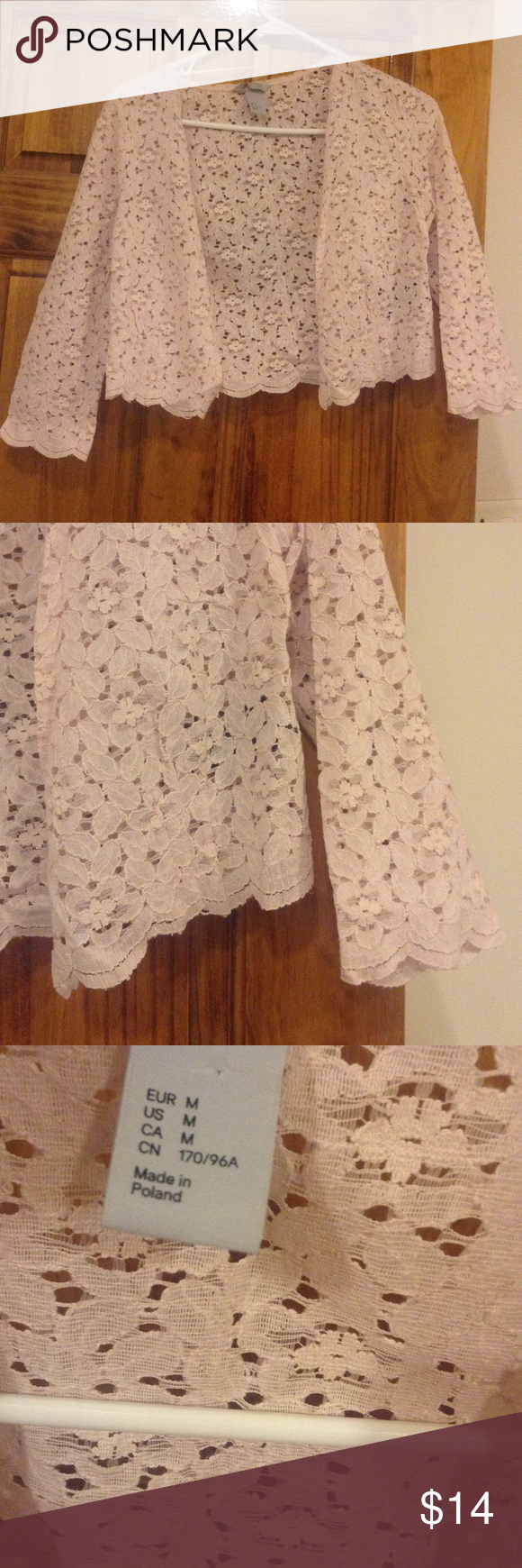 Pale pink lace cardigan | Pale pink and Customer support