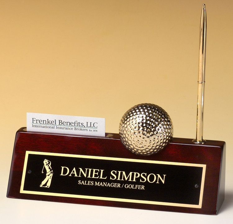 Our Golf Name Plate features a rosewood piano finish nameplate with ...