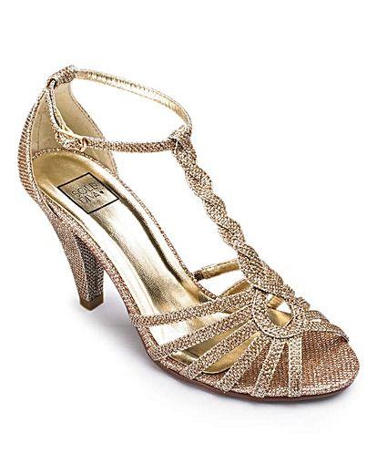 Sole Diva T Bar Sandal EEE fit
