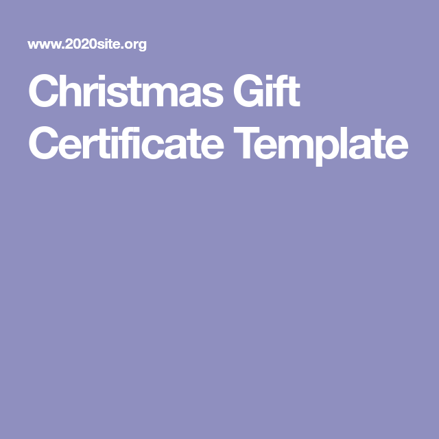 Christmas Gift Certificate Template 11 Antibiotics Pinterest
