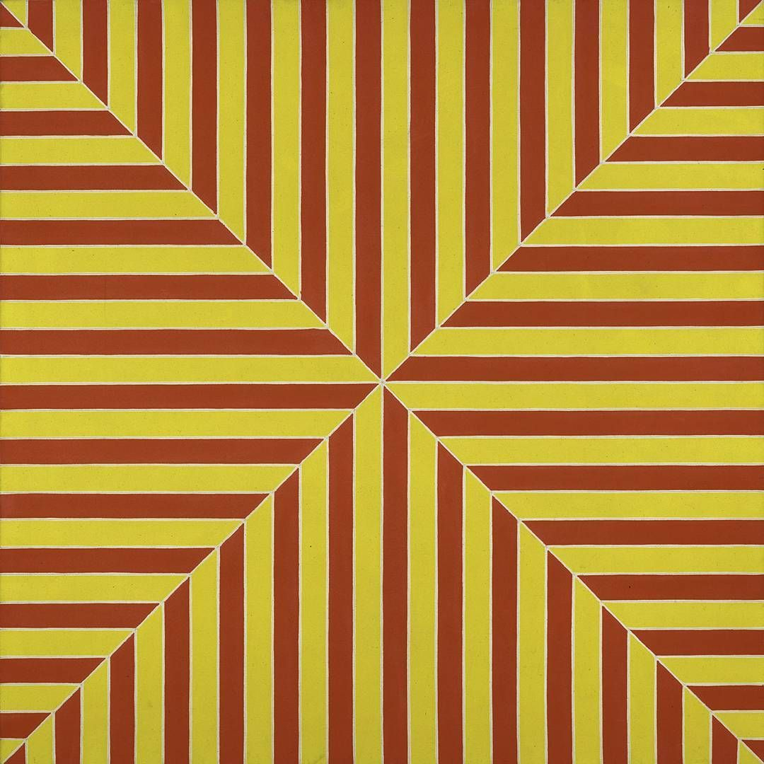 Frank Stella painted his high-energy 'Marrakech' in 1964 using fluorescent alkyd on canvas.