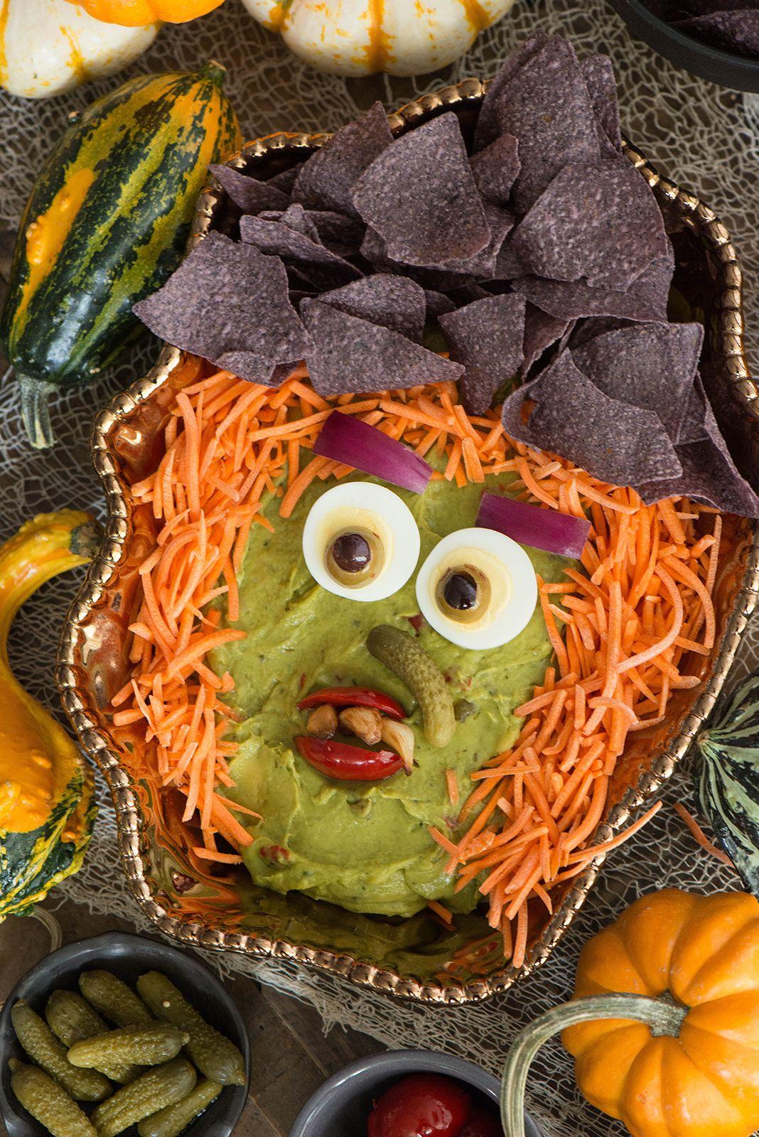 Hatch Guacamole Dip Witch Recipe Halloweenie Pinterest