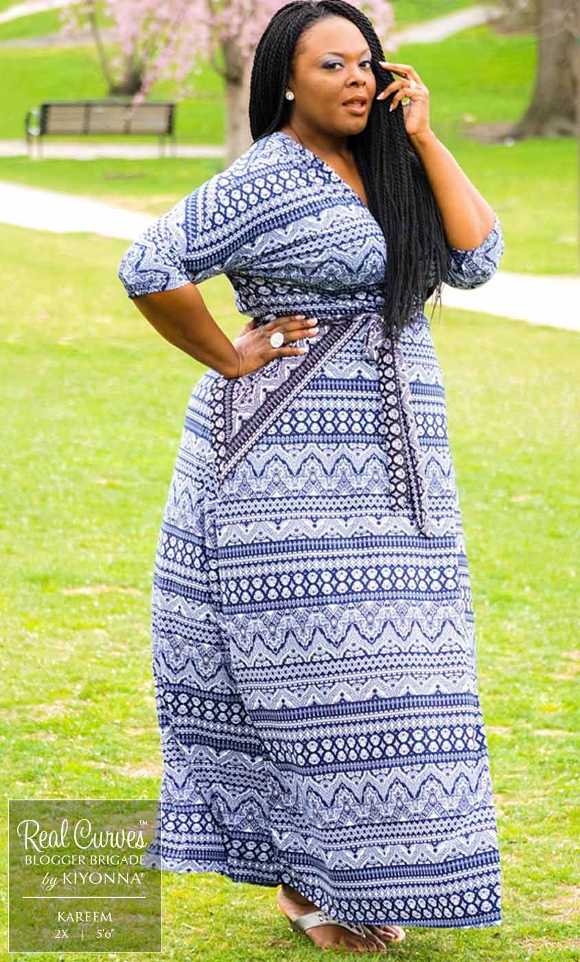 Real Curves for Moroccan Maxi Wrap Dress