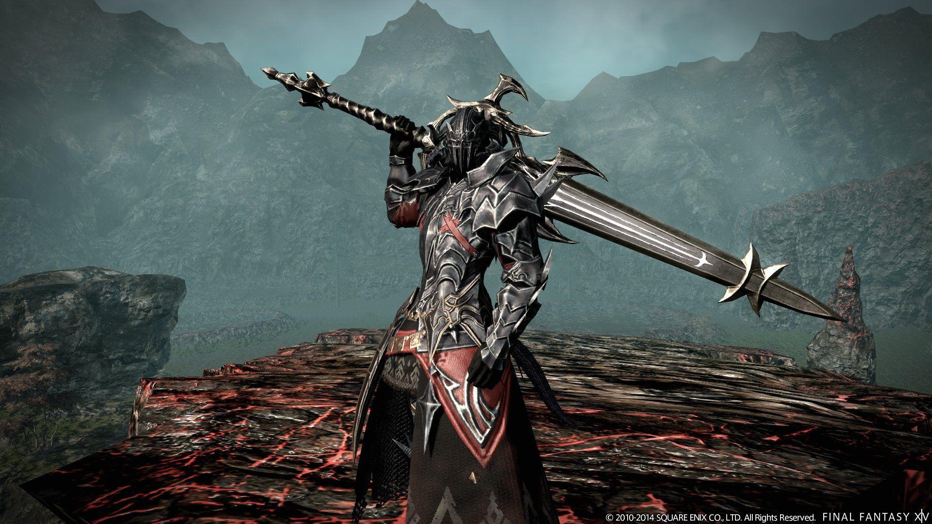 Ffxiv Dark Knight Wallpaper Wallpapersafari Final Fantasy Xiv