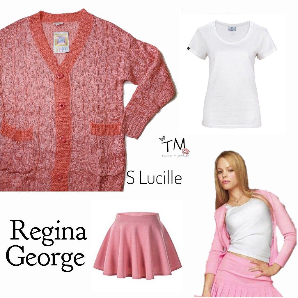 Regina DIY Halloween costume with LuLaRoe Lucille