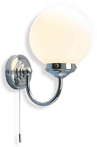 Traditional Bathroom Wall Lighting Fitting With Opal Glass Globe Hp012181 Haysom Interiors Http Www Amazon Co Uk Dp B0045uw2d4 Ref Cm Sw Bathroom Wall Lights