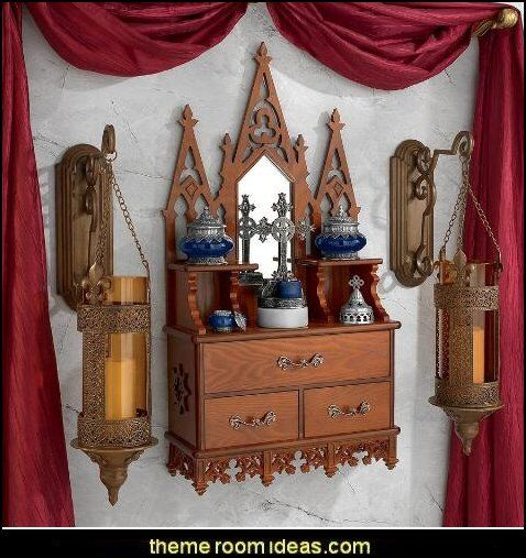 Claremont Manor English Wall Console Gothic style bedroom ...