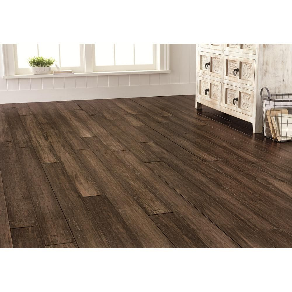 Flooring ideas   Home Decorators Collection. Handscraped Strand Woven Pecan 3 8 in  T x 5 1 8 in  W x 72 7 8 in