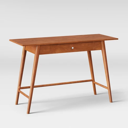 Amherst Wood Writing Desk With Drawers Brown Project 62 Wood Writing Desk Desk With Drawers Mid Century Modern Desk