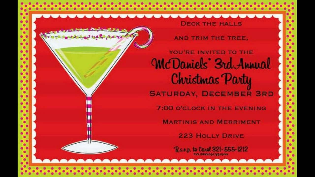 holiday party invitation wording - Funf.pandroid.co