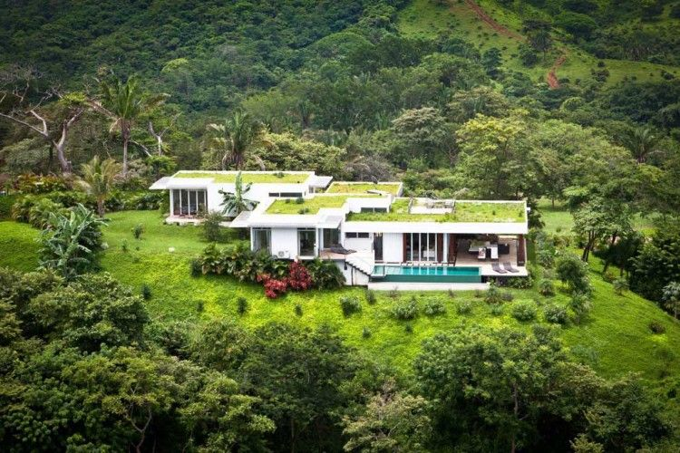Black Beauty Luna Villa In Costa Rica By Kalia Green Roof Design Green Roof Architecture