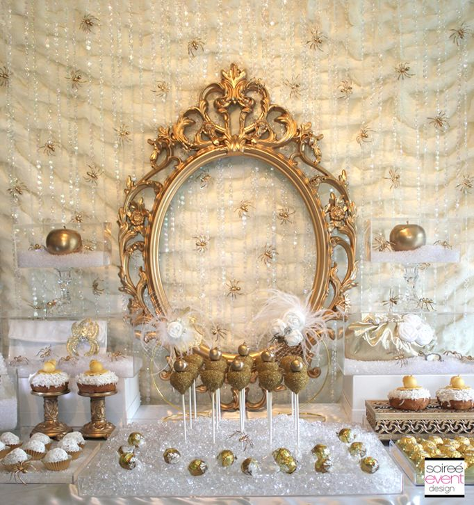 "Gold And White Wedding Ideas: ""Bitten"" Snow White Witch's Party + Budget Chic Tips"