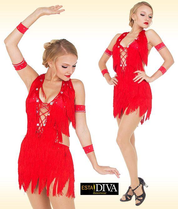 Tailor WHITE Latin SLASA Fringe YULIA dance pants DRESS