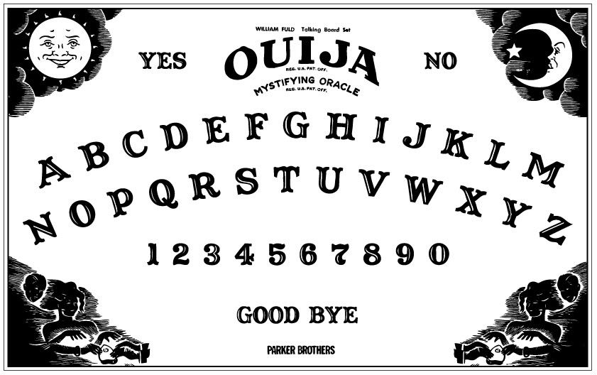 image regarding Printable Ouija Boards identified as Static: Laser Etched/Engraved Ouija Board upon Plex
